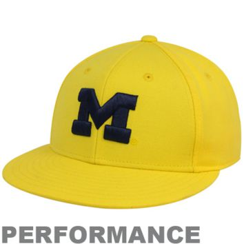 adidas Michigan Wolverines Maize On-Field Performance Fitted Hat