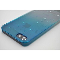 For iPhone 5, Wydan Blue Rain Water Drop Designed Case Wet Look Transparent Cover