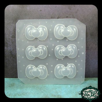 resin mold Small KAWAII BOW 6pc Handmade Plastic Mold also for polymer clay, pmc, plaster, soaps, plaster, etc