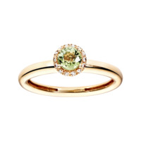Ring Romance Red Gold, Pale Green Sapphire | RenéSim