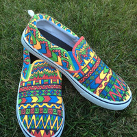 Custom Canvas Tribal Print shoes Vans