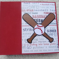 6x6 Baseball Scrapbook Photo Album