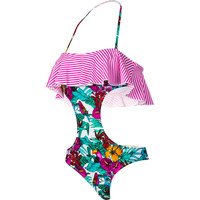 Raisins Parrot Jungle South Beach Monokini One-piece Swim Suit - Women's