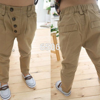 Baby Clothes Kid Boys Retro Khaki Casual Pants
