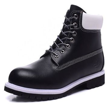 PEAPON Timberland Rhubarb Boots 2018 Black White Waterproof Martin Boots