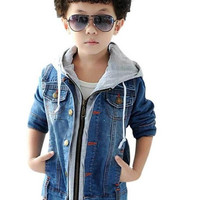 2pcs Hot Fashion Baby Boys Jeans Coat Denim Jacket Children Clothes Outfit 2Y-8Y = 1930330436