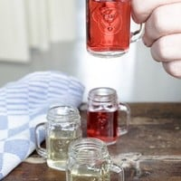 Kikkerland Mason Jar Shot Glasses, Set of 4
