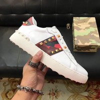 Valentino  Men Casual Shoes Boots fashionable leather Fashion Casual Sneakers Sport Shoes