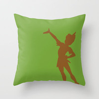 Peter Pan Throw Pillow by JessicaSzymanski