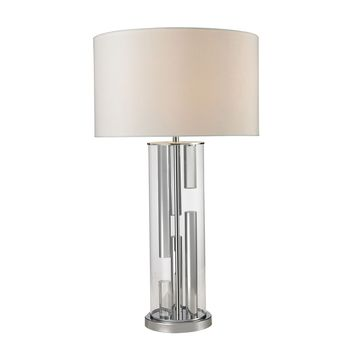 D2674 Trump Home Castello Clear Glass Table Lamp in Polished Chrome - Free Shipping!