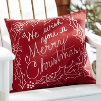 We Wish You a Merry Christmas Indoor/Outdoor Pillow