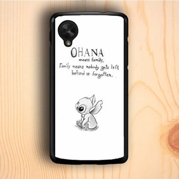 Dream colorful Vintage Lilo And Stitch Ohana Means Family Nexus 5 Case
