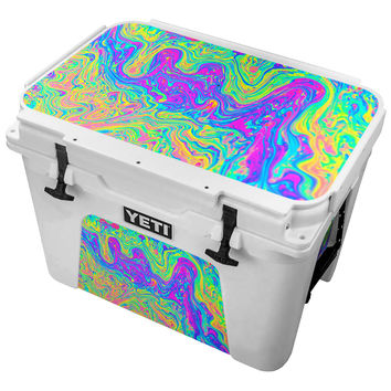 Multicolored Neon Paint Fusion Skin for the Yeti Tundra Cooler