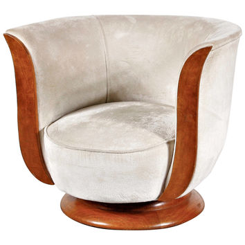 Art Deco Lounge Chair, Hotel Malandre, circa 1930