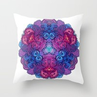 Indian Mandala 02 Throw Pillow by Aloke Design
