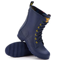 Navy Laceywelly Womens Laced Rain Boot | Joules US