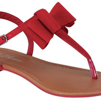 Bow Sandals - Red *FINAL SALE!*