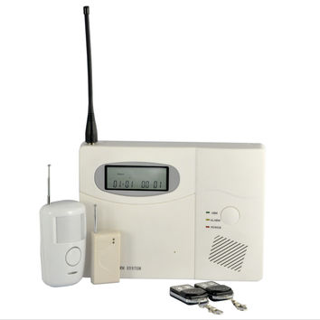Wireless Control Alarm System for Homes, Offices, Businesses (100 Wireless + 6 Wired Connections)