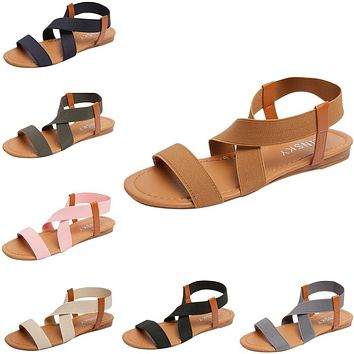 Women's Flat Gladiator Strappy Summer Sandals