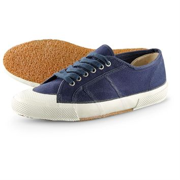 Men's Italian Navy Surplus Canvas Deck Shoes, New - 229923, Casual Shoes at Sportsman's Guide