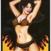 Christine Karas - Combustible Babe - Sticker / Decal