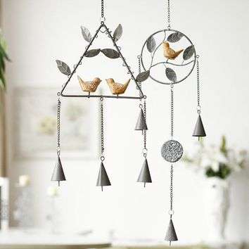 Creative Metal bird garden wind chime metal decoration for home beautiful decoration for home garden metal wind chime