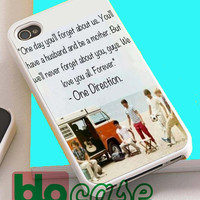One Direction Quotes For Iphone 4/4s, iPhone 5/5s, iPhone 5C, iphone 6, and iPhone 6 Plus Case