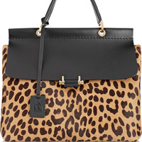 Lanvin - Leopard-print calf hair and leather tote