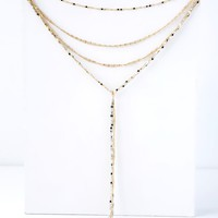 Cornelius Silver and Gold Layered Drop Necklace