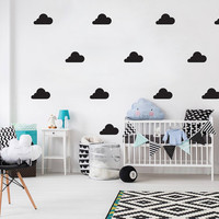 Clouds Wall Decals, Cloud Pattern, Wall Stickers, Clouds Sticker, Clouds Decal, Nursery Decal, Pattern Walls, Nursery Wall Decal, Set of 14