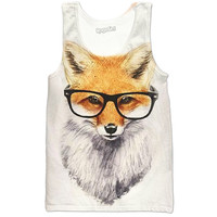 Mr. Smart Fox Tank Tops