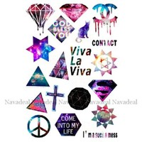 NAVA Novelty Peace Diamond Viva Cat Star Sky Luggage Skateboard Laptop Bumper Sticker