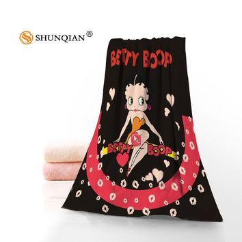 New Betty Boop Towel Printed Cotton Face/Bath Towels Microfiber Fabric For Kids Men Women Shower Towels