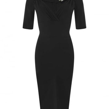 COLLECTIF MAINLINE TRIXIE PENCIL DRESS