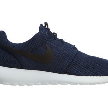 Nike Roshe One Mens 511881-405 Midnight Navy Blue Mesh Running Shoes Size 10.5