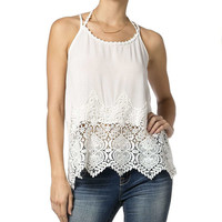 Miss Me Women's Lace Strappy Tank
