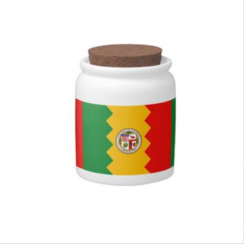 Los Angeles Flag Candy Jar