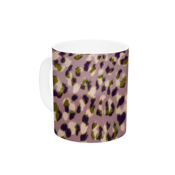 "Vasare Nar ""Leo Cheetah"" Animal Pattern Ceramic Coffee Mug"