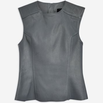 **Stretch Leather Top by Boutique | Topshop