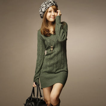 Pullover Winter V-neck Long Sleeve Slim Sweater [9377723716]