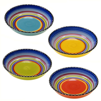 Certified International Tequila Sunrise Soup/Pasta Bowl 9.25-Inch Assorted De...