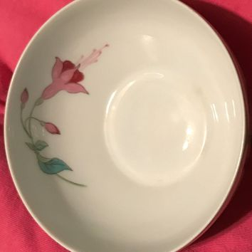 A Giraud Limoges White China Bowl Floral Design Giraud Limoges France Vintage