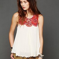 Free People Spun Tales Beaded Top