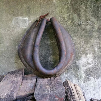 Vintage Leather Horse Collar Equestrian Decor