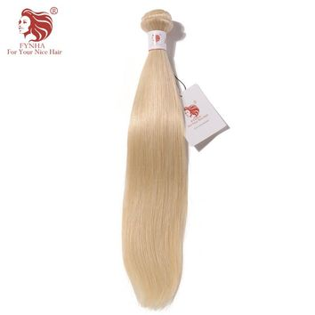 [FYNHA] Brazilian Straight Remy Hair Bundles 14-24inch #60 Color 100% Human Hair Weaving Free Shipping