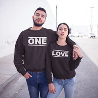 One Love Hoodies Couples Hoodies, Couple Outfit, Couples Sweaters, Matching Couple, Couples Gift Set, Matching Outfit, Matching Hoodies Set