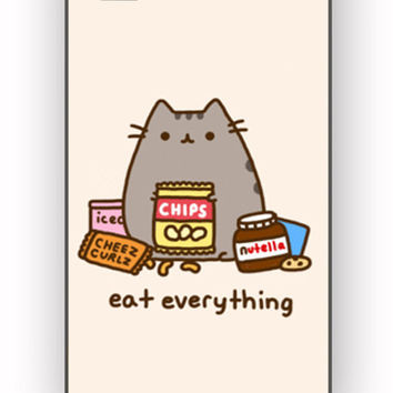 Pusheen The Cat Eat Every Thing for iPhone 4/4S Case **