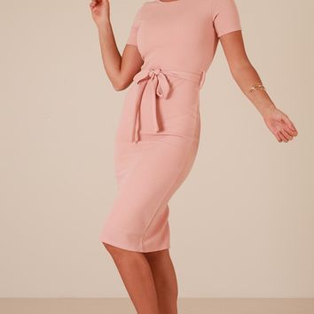 Morning Rose dress in blush Produced By SHOWPO