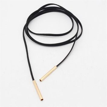 2pcs fashion women long black leather choker jewelry leather necklace women accessories sale chocker necklace fashion necklaces gift box free gift christmas gold necklace  number 1