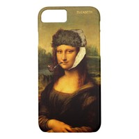 Mona Lisa With Bandaged Ear Van Gogh Hat And Pipe iPhone 7 Case